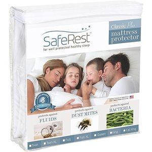 SafeRest Waterproof Mattress Protector - King Size